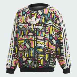 Adidas Girls Sweater Age 7-8-13-14-15 Years 🔥 GENUINE Originals® Abstract Crew