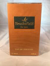 Brooksfield for men Eau De Toilette 3.4 fl oz Splash Ref 6402 NIB Sealed