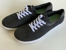 NEW! KEDS CHAMPION BLACK CHARCOAL GRAY CANVAS SHOES SNEAKERS 7.5 38 SALE