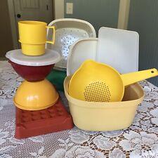 tupperware lot vintage Wonderlier bowls bacon keeper strainer steamer mug lids