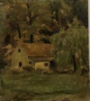 "Early Philadelphia School impressionist Oil ""House in a landscape"""