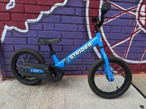 "Strider 14x Sport Glider Balance Kids Bike With Pedal Conversion Kit 14"" used"
