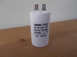 20 uF Kondensator z.B. für Gardena Hauswasserautomat Hauswasserwerk 5000 Pumpe