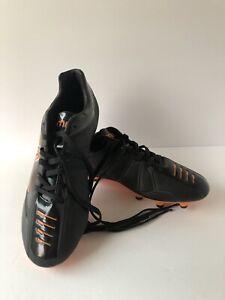 Mitre Campeon II Soccer Shoes Cleats Men's  Size 9.5 Black & Orange Stripes New