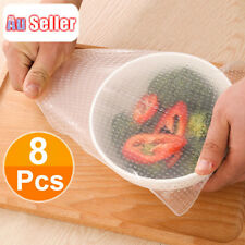 8pcs Silicone Stretch Lids Food Fresh Wraps Seal Vacuum Cover Cling