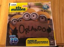 Minions Super 3D Lenticular Jizsaw Puzzle 150 Pieces Movie Exclusive