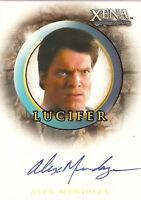 Xena A36 Quotable autograph card Alex Mendoza as Lucifer auto
