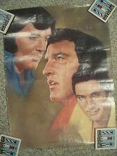 Three Faces Of Elvis Presley By K Henderson Poster 1981