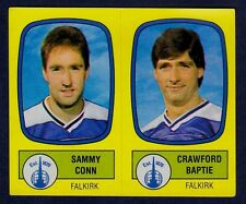 PANINI FOOTBALL 88-#518-A-B-FALKIRK-SAMMY CONN / CRAWFORD BAPTIE