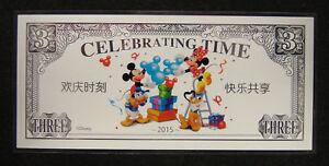2015 DISNEY Happy Celebrating Time UNC