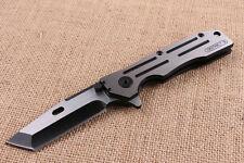 8'' NEW CNC 5.9MM Blade All Steel Handle Spring Assist Open Folding knife VTF37