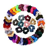 #QZO 45pcs Velvet Elastic Rubber Band Fashion Women Hair Ropes Ponytail Holder