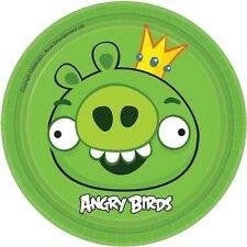 Angry Birds Plates Lunch 18cm 8PK Party Decoration Tableware Birthday