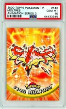 PSA 10 GEM MINT Moltres Topps Animation Series 3 Rare Pokemon Card