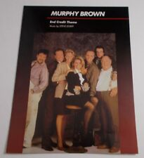 * Murphy Brown Tv Show -Sheet Music-End Theme - Unused Store stock