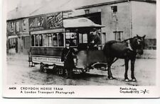 Pamlin repro photo postcard M434 Horse Tram Croydon Surrey