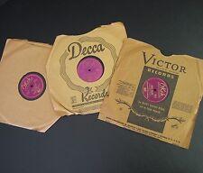 "3x Okeh 10"" records 78RPM 6516 6553 9444 Benny Goodman Flores Valdez Peggy Lee"