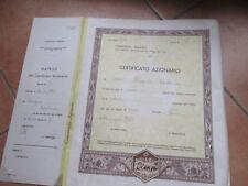 1980 Cert.Consorzio Agrario Soc.Cooperativa rl + cedole