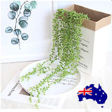 2X Artificial Succulents Plants Hanging Ivy Vine Plants String of Pearls Hanging