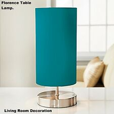 New Style Florence Table Lamp Study Lamp Room Decoration - Teal