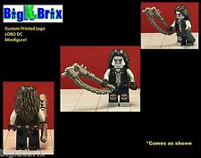 LOBO Mercenery DC Custom Printed LEGO Minifigure with Weapon NO DECALS USED!