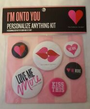 Victoria's Secret I'm On To You Personalize Anything Kit, 6 Pins, NEW & SEALED