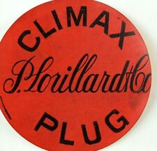 1880's P. Lorillard & Co. Climax Plug Product Package Label Or Trade Card F92