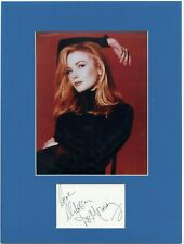 REBECCA DE MORNAY • COLOR  PHOTO • SIGNED • MATTED 12X16 •