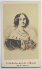 1860s PRINCESS AUGUSTA QUEEN OF PRUSSIA EMPRESS OF GERMANY NEURDEINCDV PORTRAIT