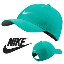 NEW Nike SWOOSH BASEBALL CAP PLAIN GREEN GOLF LEGACY 91 TECH GYM FITTED PEAK HAT
