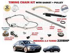 Para Vauxhall Opel Insignia 2.0 Turbo 220BHP 2008- > Kit de Cadena Distribución