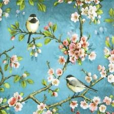 4x Paper Napkins for decoupage craft party - Blossom Bird