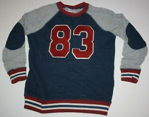 Used Hanna Andersson Boys 140 10 year Sweatshirt Top Terry Raglan Sleeves