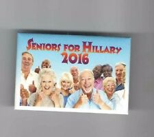 2016 pin SENIORS for HILLARY Clinton pinback SENIOR CITIZENS