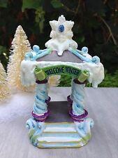 Miniature FAIRY GARDEN Mini Village ~ SNOW FAIRIES Frozen CHRISTMAS Gazebo