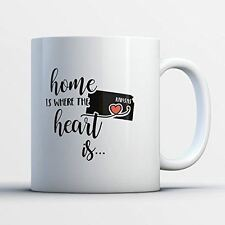 Kansas Coffee Mug - Kansas Is Where The Heart Is - Adorable 11 oz White Ceramic