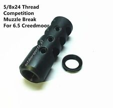 5/8x24 TPI Thread 6.5 Creedmoor Competition Muzzle Brake With Crush Washer