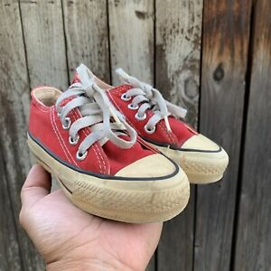Vintage 80s Converse All Star Kids Size 8 Shoes Made in USA