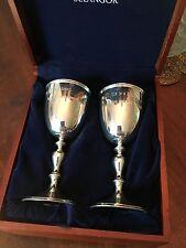 Royal Selangor Pewter Goblets..romantic inscription Pair of two