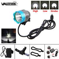 Blue 5000 Lumen XM-L T6 LED Headlight Headlamp Bicycle Bike Head Light Torch SET
