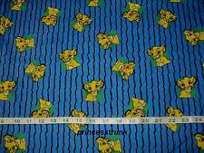 "NEW Rare Disney Lion King Simba Blue Fabric 100% Cotton FQ 18""x22"""