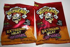 2 x WARHEADS HOTHEADS Extreme Heat Worms 142g each bag