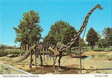 Postcard Utah Vernal Dinosaur Gardens Diplodocus Unused Mint