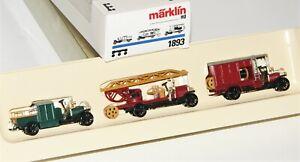 "Märklin H0 1893 Wagen-Set ""Oldtimer Feuerwehr"" OVP HE2661"