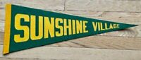 Sunshine Village Vintage Pennant  Ski Resort Banff Alberta Felt Banner Wall Hang