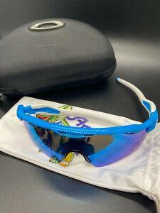 Oakley Radar EV Path Sunglasses Sapphire Lens, Blue Frame, White Socks Hard Case