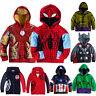 Kid Toddler Boy Superhero Hoodie Sweatshirt Cosplay Hooded Jackets Coats Outwear