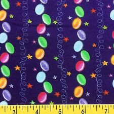 CANDY STRIPE cotton fabric for sewing quilting BORDER STRIPE jelly beans purple