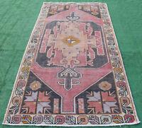 Turkish Rug 52''x105'' Vintage Light Muted Color Rug Oushak Carpet 133x268cm 4x8