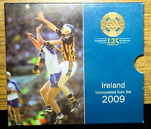 IRELAND OFFICIAL MINT SET 2009. G.A.A. ANNIVERSARY. FREE SHIPPING